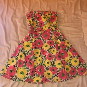 Strapless Lilly Pulitzer floral dress